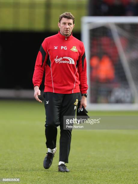 Doncaster Rovers goalkeeper coach Paul Gerrard looks on prior to the Sky Bet League One match between Doncaster Rovers and Northampton Town at...