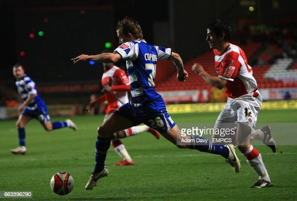 Doncaster Rovers' James Coppinger gets away from Charlton Athletic's Danny Butterfield