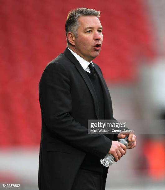 Doncaster Rovers' Manager Darren Ferguson during the Sky Bet League Two match between Doncaster United and Accrington Stanley at Keepmoat Stadium on...
