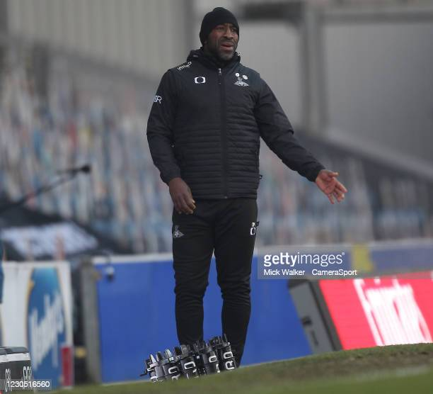 Doncaster Rovers manager Darren Moore during the FA Cup Third Round match between Blackburn Rovers and Doncaster Rovers at Ewood Park on January 9,...