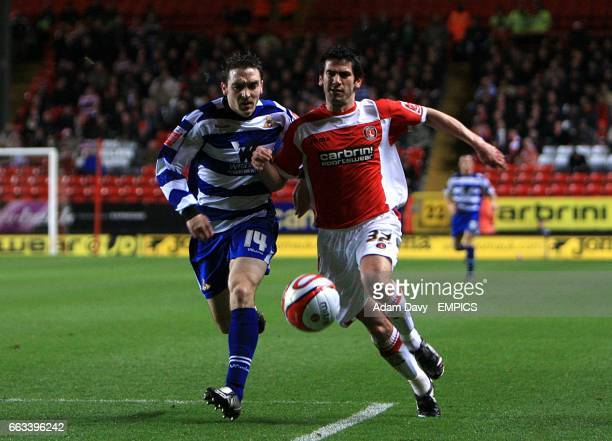Doncaster Rovers's Paul Heffernan and Charlton Athletic's Danny Butterfield battle for the ball