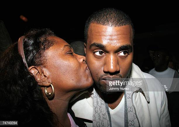 Donda West and Kanye West at the TBD in New York City New York