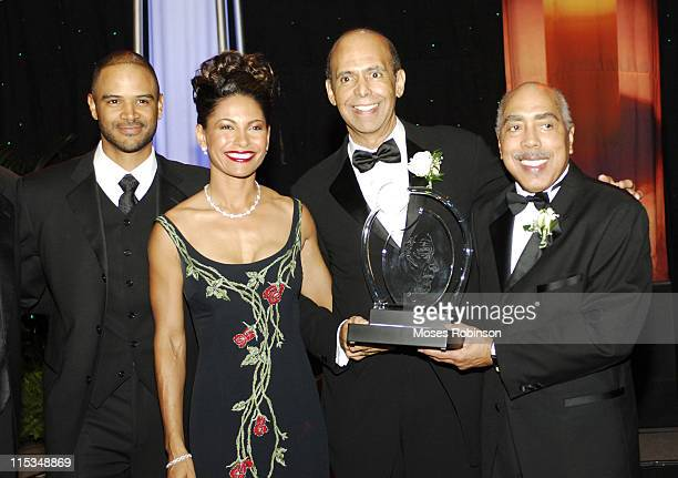 Dondre t Whitfield Salli Richardson Whitfield Michael Lomax and Morehouse President Walter Massey