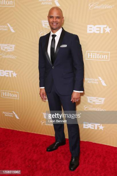 Dondre Whitfield attends American Black Film Festival Honors Awards Ceremony at The Beverly Hilton Hotel on February 23, 2020 in Beverly Hills,...