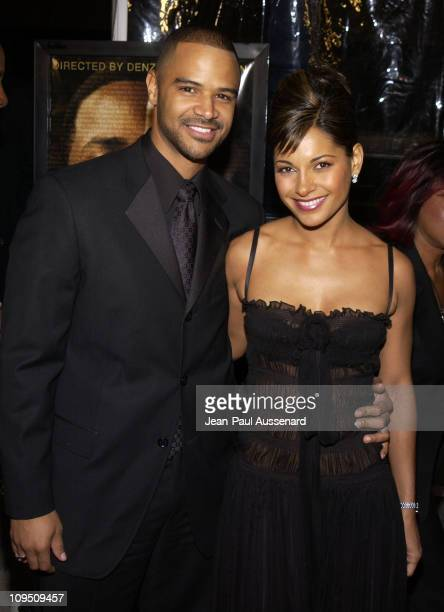 Dondre Whitfield Salli Richardson during 'Antwone Fisher' Premiere Beverly Hills at Academy of Motion Picture Arts Sciences in Beverly Hills...