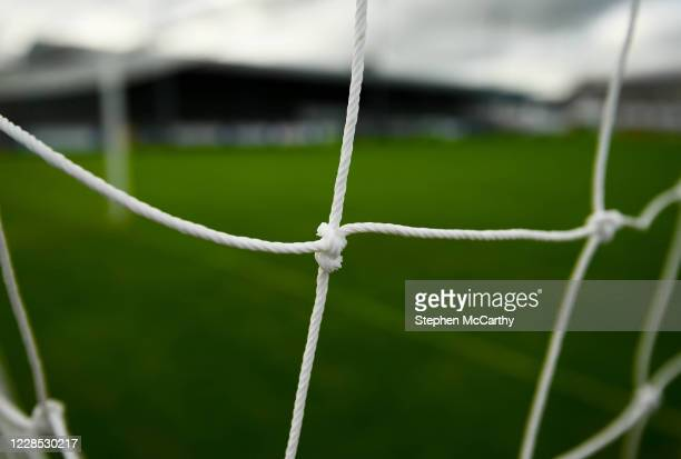 Donegal , Ireland - 13 September 2020; A detailed view of the goal nets at Finn Park prior to the SSE Airtricity League Premier Division match...