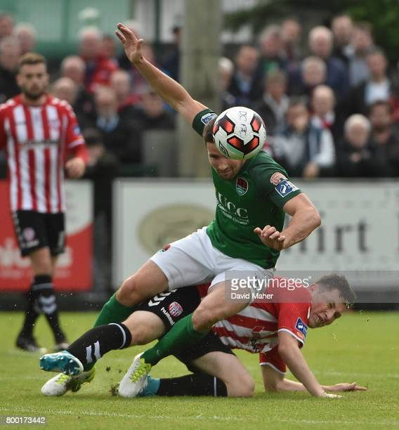 Donegal Ireland 23 June 2017 Gearoid Morrissey of Cork City in action against Conor McDermott of Derry City during the SSE Airtricity League Premier...