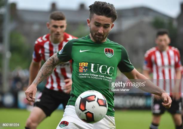 Donegal Ireland 23 June 2017 Sean Maguire of Cork City in action against Conor McDermott of Derry City during the SSE Airtricity League Premier...