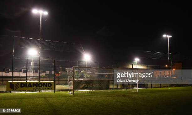 Donegal Ireland 3 March 2017 A general view of the goals after floodlight failure resulted in the game being abandoned in the SSE Airtricity League...