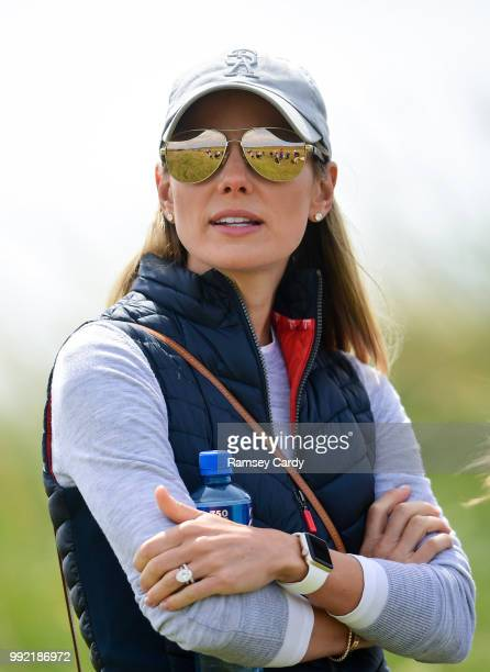 Donegal Ireland 5 July 2018 Erica McIlroy in attendance during Day One of the Irish Open Golf Championship at Ballyliffin Golf Club in Ballyliffin Co...