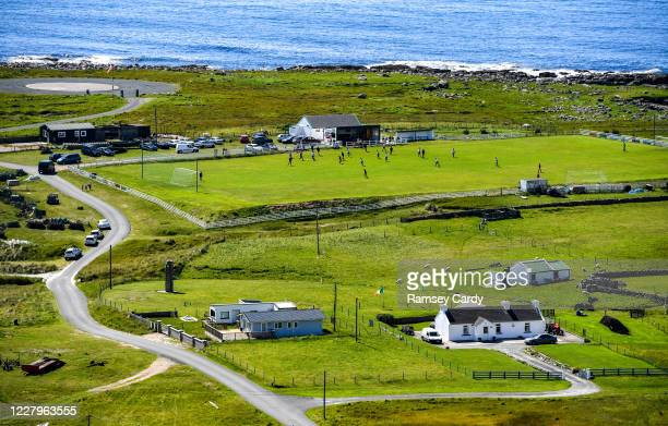 Donegal , Ireland - 8 August 2020; A view of action during the Donegal Junior League Glencar Inn Division One match between Arranmore United and...