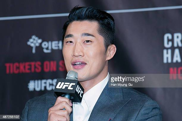 Dong Hyun Kim attends during the UFC Fight Night Seoul On-Sale Press Conference at The Banyan Tree Hotel on September 08, 2015 in Seoul, South Korea.