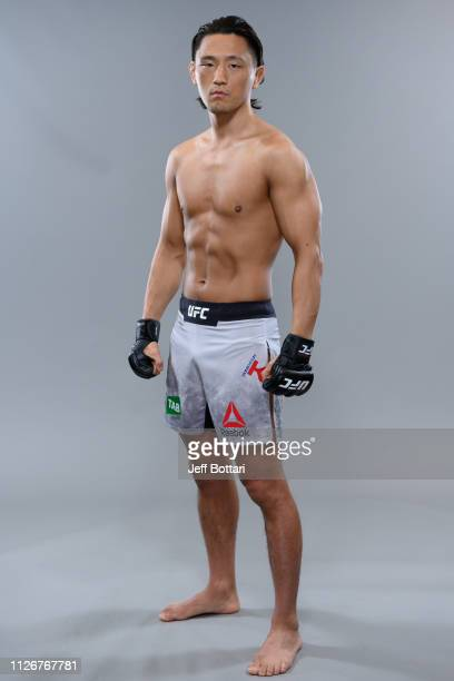 Dong Hyun Ma of South Korea poses for a portrait during a UFC photo session on February 7, 2019 in Melbourne, Australia.