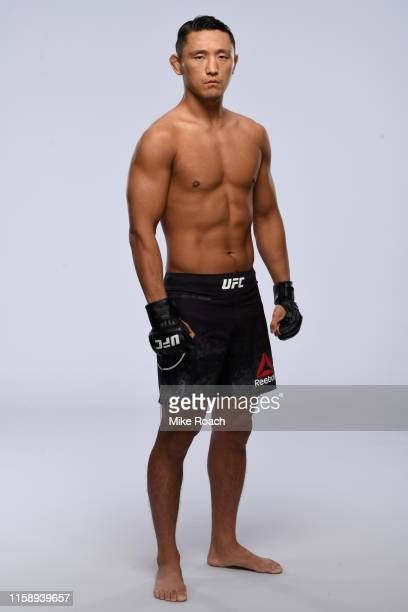 Dong Hyun Ma of South Korea poses for a portrait during a UFC photo session on July 31, 2019 in Newark, New Jersey.