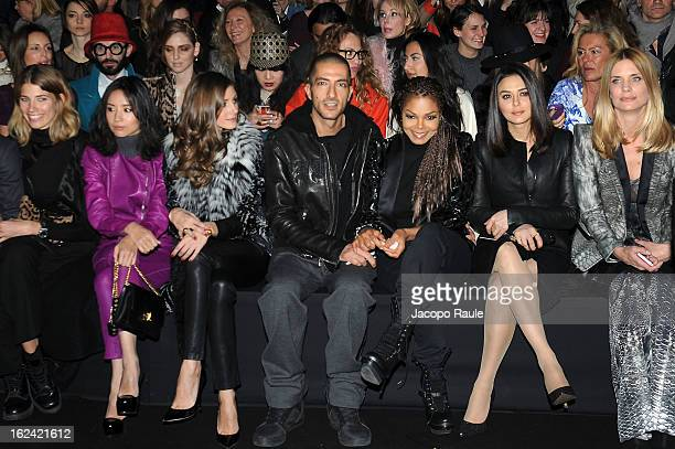Dong Jie Olivia Palermo Wissam al Mana Janet Jackson Preity Zinta Filippa Lagerback and guest attend the Roberto Cavalli fashion show as part of...