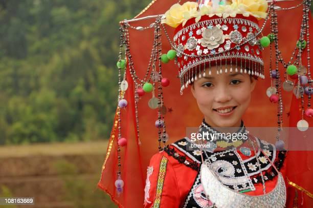 少数民族トン・ガール Longsheng 、中国