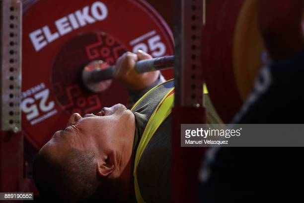 Dong Qi of China competes during the Men's Up to 97Kg Group A Category as part of the World Para Powerlifting Championship Mexico 2016 at Juan de la...
