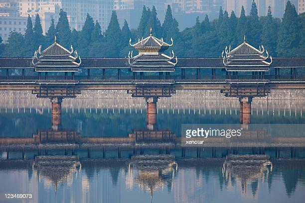 dong style bridge in changsha - changsha stock pictures, royalty-free photos & images