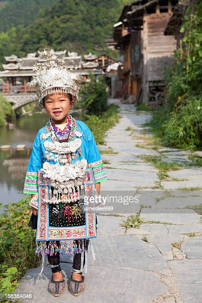 dong tribe little girl - dong tribe stock pictures, royalty-free photos & images