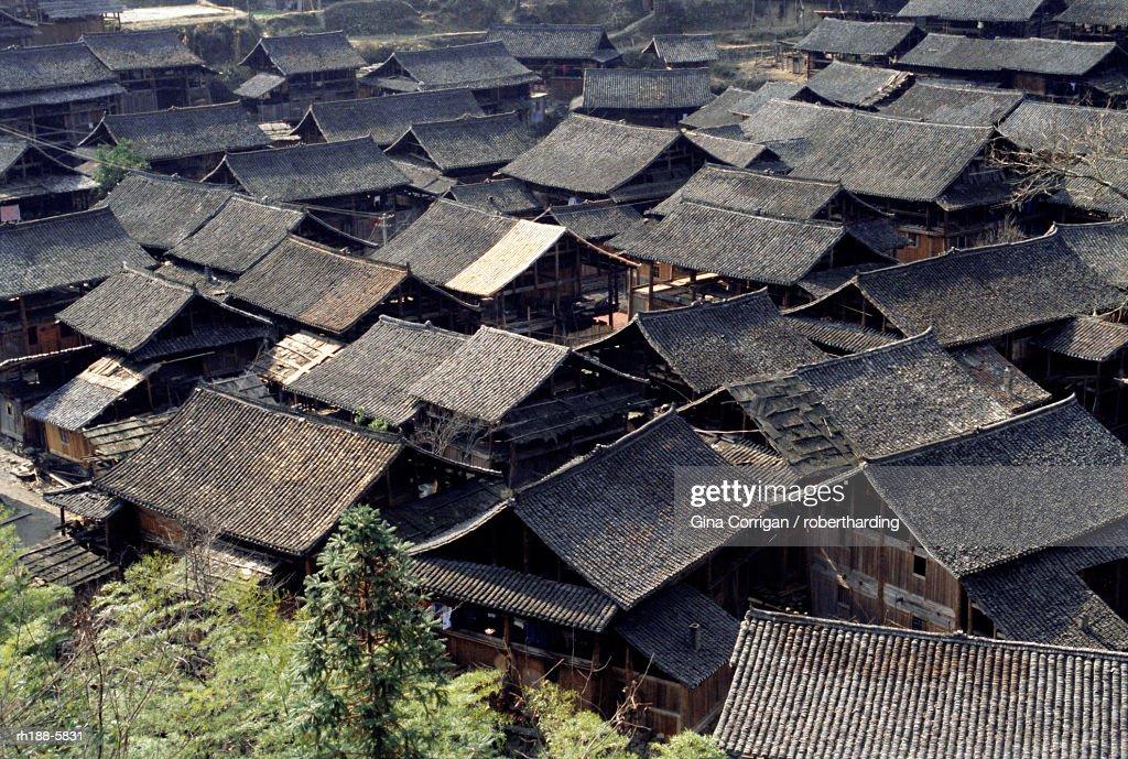 Dong village near Rongjiang, Guizhou, China, Asia : Foto de stock