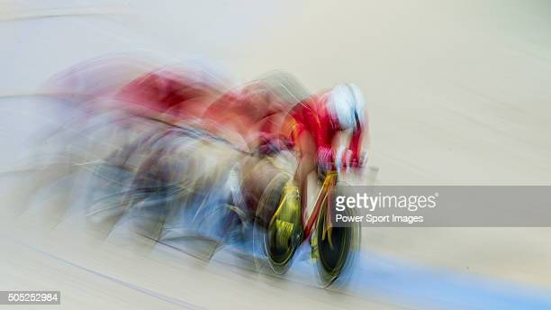 Dong Yan Huang Yali Jing Menglu Ma Baofang Zhao of China compete during the Women«s team pursuit first round as part of the UCI Track World Cycling...
