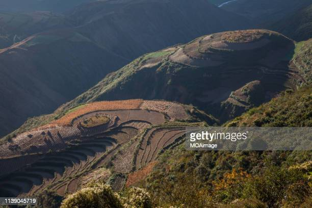 dongchuan red land,yunnan,china - yunnan province stock pictures, royalty-free photos & images