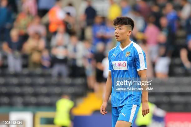Dongda He of Notts County during the preseason match between Notts County and Leicester City at Meadow Lane on July 21 2018 in Nottingham England