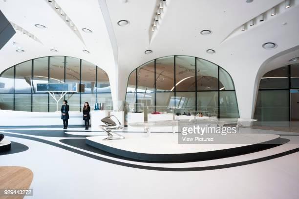 Dongdaemun Design Plaza Seoul Korea South Architect Zaha Hadid Architects 2014 Interior view of Design Museum Zaha Hadid´s furniture designs are on...