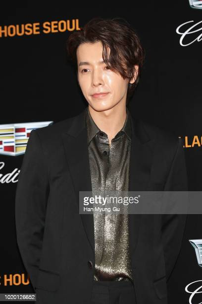 Model Jang KiYong attends during a promotional event for the CADILLAC on August 20 2018 in Seoul South Korea