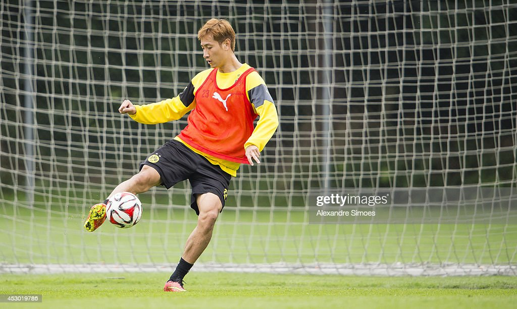 Dong-Won Ji (BVB) of Borussia Dortmund during a training session on August 1, 2014 in Bad Ragaz, Switzerland.