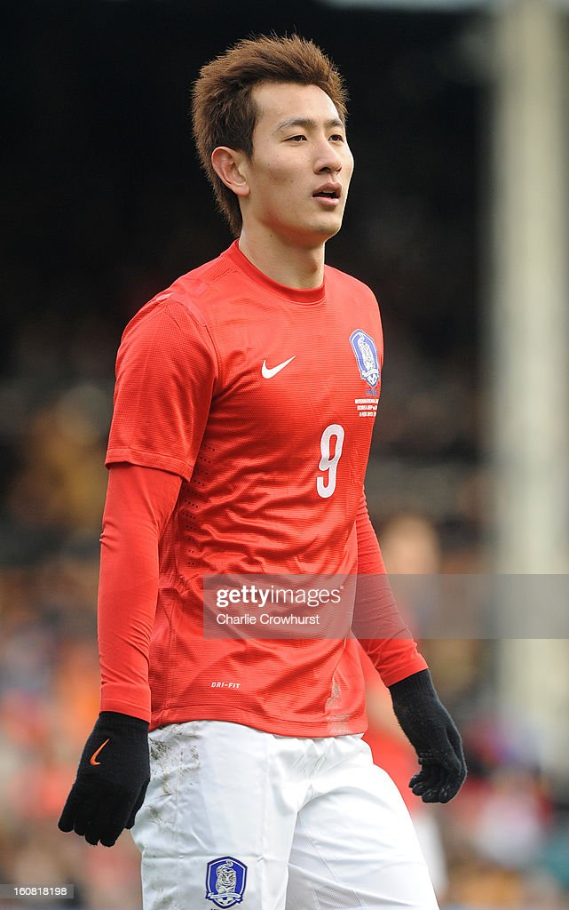 Dong-Won Ji of Korea Republic looks on during the International Friendly match between Croatia and Korea Republic at Craven Cottage on February 6, 2013 in London, England.
