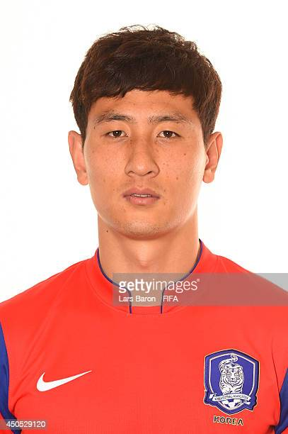 Dongwon Ji of Korea Republic poses during the official FIFA World Cup 2014 portrait session on June 12 2014 in Curitiba Brazil