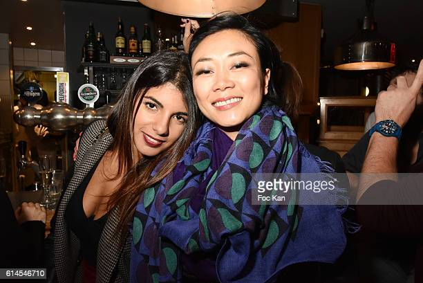 Donia Eden and Malika Lambert attend Apero Milk Hosted by Grand Seigneurs Culinary Magazine at Bistrot le Marguerite on October 13 2016 in Paris...