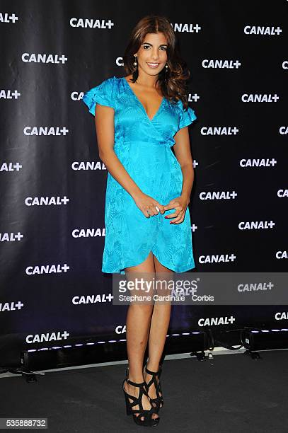 Donia Eden attends the Canal Press Conference in Paris