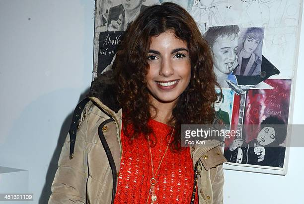 Donia Eden attends the 'Flags From The Old Regime' Pete Doherty and Alize Meurisse Paintings Exhibition Preview At Espace Djam on November 21 2013 in...