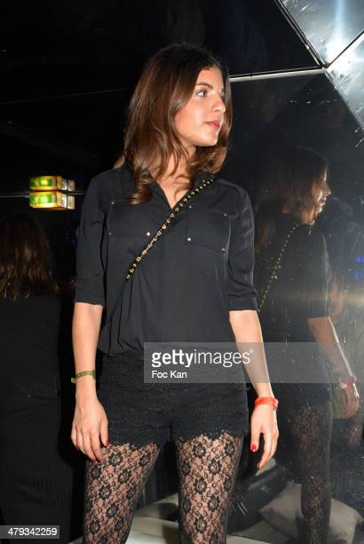 Donia Eden attends the Kavinsky Olympia Concert After DJ Set Party at the VIP Room Theater on March 17 2014 in Paris France