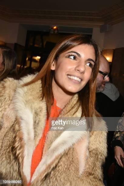 Donia Eden attends the 'Prix De Flore 2018' Literary Prize Winner Announcement At Cafe De Flore on November 8 2018 in Paris France