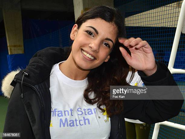 Donia Eden from the Journal Du Hard attends the 'Enfant Star Match' Auction Cocktail At Tensnis Club De Paris on March 25 2013 in Paris France