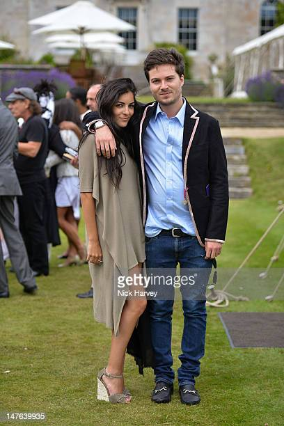 Donielle Hadar and Max Montgomery attend Cartier Style Luxe Lunch Reception at Goodwood Festival of Speed at Goodwood on July 1 2012 in Chichester...