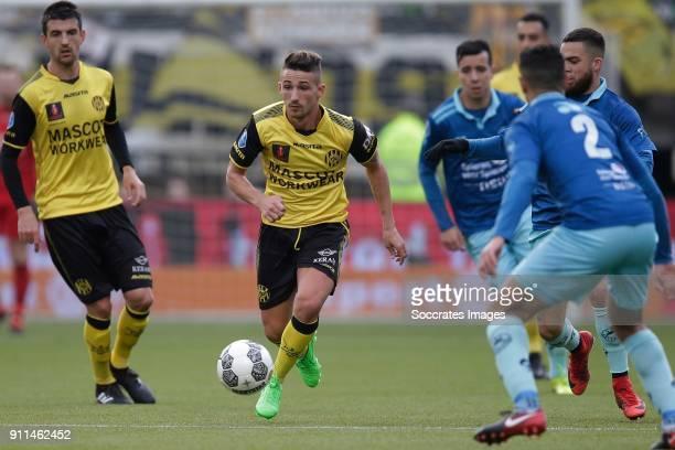 Donis Avdijaj of Roda JC during the Dutch Eredivisie match between Roda JC v Excelsior at the Parkstad Limburg Stadium on January 28 2018 in Kerkrade...