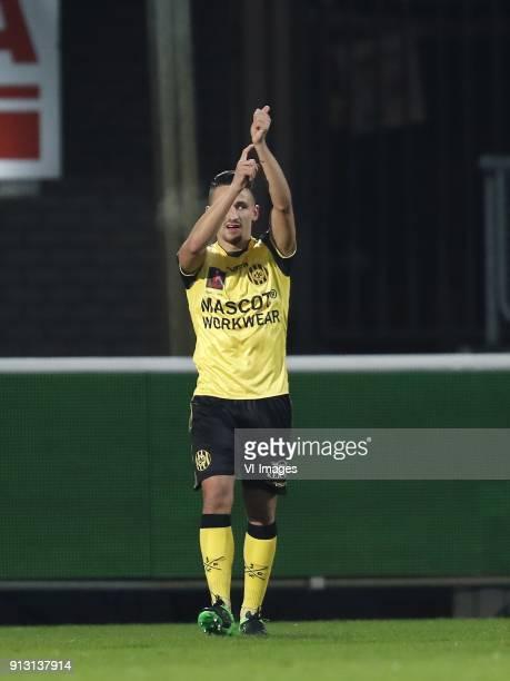 Donis Avdijaj of Roda JC during the Dutch KNVB quarter final match between Willem II Tilburg and Roda JC Kerkrade at Koning Willem II stadium on...