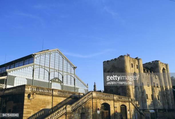 donjon et halles de structure en fer de Baltard Niort DeuxSvres rgion Poitou Charentes France