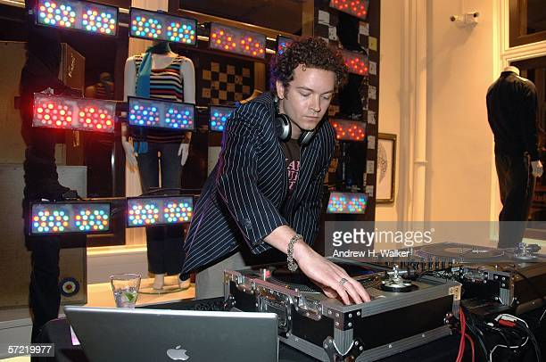 Donkey Pizzle aka Danny Masterson spins music at the launch of Ben Sherman's first official US Flagship Store on March 30 2006 in New York City