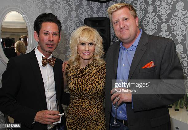 Donn Akin Lisa Capparelli and Derek Krull attend L'OREAL Paris Introduces Their New Hair Expert Johnny Lavoy at Four Seasons Hotel on January 15 2010...