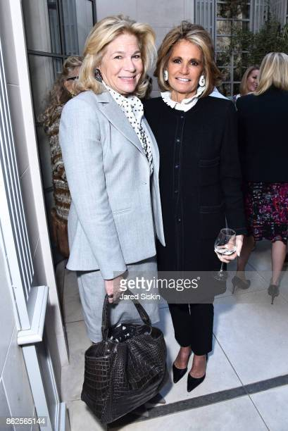 Donna Acquavella and Grace Meigher attend QUEST VHERNIER Host Luncheon at MAJORELLE at Majorelle on October 17 2017 in New York City