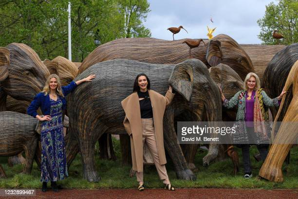 Donna Air, Amy Jackson and Joanna Lumley celebrate The Elephant Family's CoExistence campaign at a special exhibition featuring elephant sculptures...