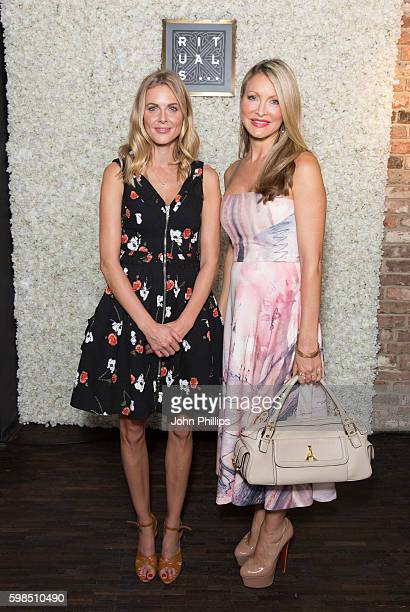 Donna Air and Caprice attend the Rituals Vip store launch opening in Covent Garden on September 1 2016 in London England