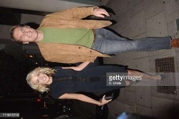 Donna Air and Damian Aspinall during Patrick Cox 20th Anniversary Party at Nobu in London Great Britain