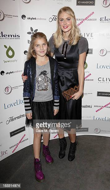 Donna Air and daughter Freya Air Aspinall arrive at The Inspiration Awards For Women 2012 at Cadogan Hall on October 3 2012 in London England