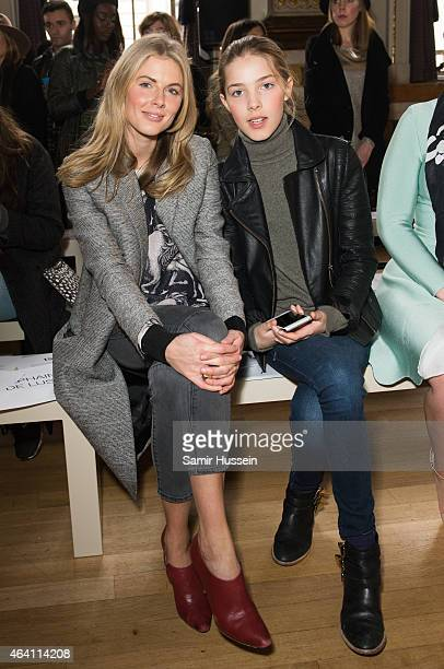 Donna Air and daughter Freya Air Aspinall attend the Issa show during London Fashion Week Fall/Winter 2015/16 on February 22 2015 in London United...